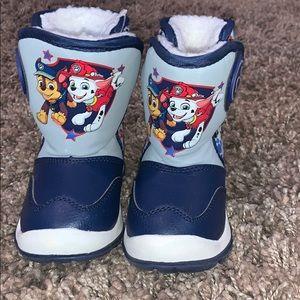 Paw patrol snow boots.